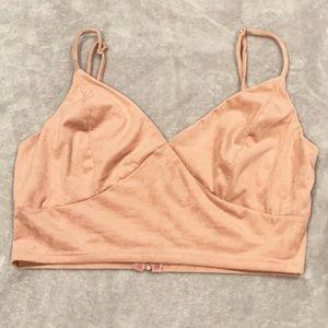 Charlotte Russe Blush Pink Crop Top/Bralette